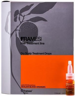 Framesi Hair Treatment Line Dry Scalp Treatment Drops 10 ml - pack of 12 vials
