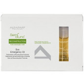 Alfaparf Semi Di Lino Reconstruction Sos Emergency Oil 6 x 13ml vials  (new packaging)
