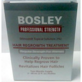 Bosley Hair Regrowth Treatment 2% Formula for Women Box