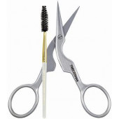 Tweezerman Stainless Brow Shaping Scissor and Brush (2914-P)