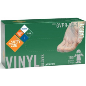 Powder Free Clear Vinyl Gloves - Large